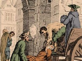 The Great Plague of 1665–6 saw disease spread some four times faster in London than it did at the peak of the Black Death in 1348, a study has concluded. Pictured: the Great Plague