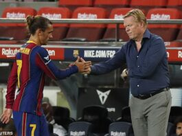 Ronald Koeman favours a formation which puts Lionel Messi at the point of the attack