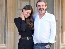 Superdry boss Julian Dunkerton (pictured with wife Jade Holland Cooper) has insisted he is optimistic about a post-pandemic recovery on Britain