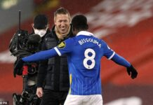 Graham Potter was overjoyed by arguably the biggest victory of his reign at Brighton