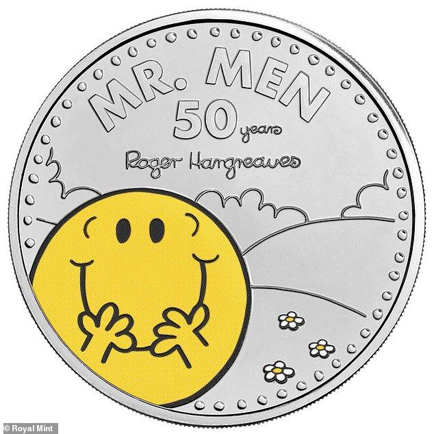 The £5 coin featuring Mr Happy is released just a day after Britain