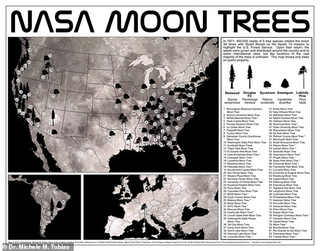 NASA has shared a map showing the locations of these