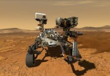 The Perseverance Mars rover which has landed on the Red Planet