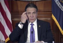 "In this image taken from video from the Office of the N.Y. Governor, New York Gov. Andrew Cuomo speaks during a news conference, Wednesday, March 3, 2021, in Albany, N.Y. Besieged by sexual harassment allegations, a somber Cuomo apologized Wednesday, saying he ""learned an important lesson"" about his own behavior around women, but he said he intended to remain in office. (Office of the NY Governor via AP)"