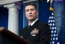WASHINGTON, DC - Then-White House physician Dr. Ronny Jackson speaks to reporters during the daily briefing in the Brady press briefing room at the White House in Washington, DC on Tuesday, Jan. 16, 2018. Jackson is now calling for President Biden to undergo a cognitive exam. (Photo by Jabin Botsford/The Washington Post via Getty Images)