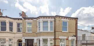 From the outside, this rental property looks like any other renovated Victorian terrace and doesn