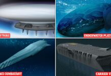 The Royal Navy has released concepts for four vessels -