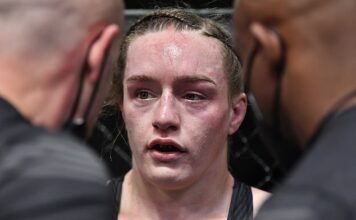 Aspen Ladd was on the receiving end of a rebuke from her corner after the third round