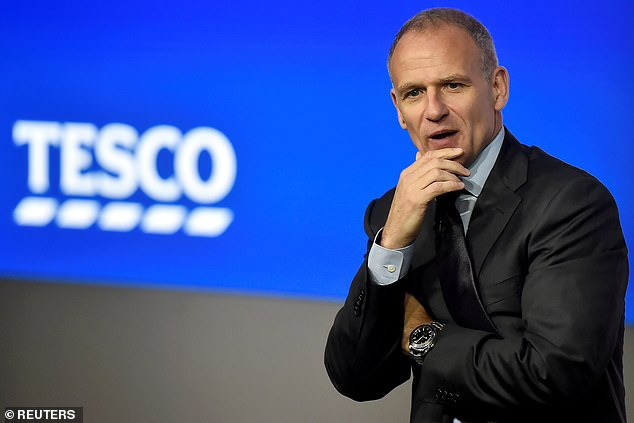 Just six FTSE 100 bosses are women – one fewer than men named David. Above,Tesco Group Chief Executive, Dave Lewis