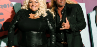 Beth Chapman, left, and Duane Chapman arrive at the CMT Music Awards
