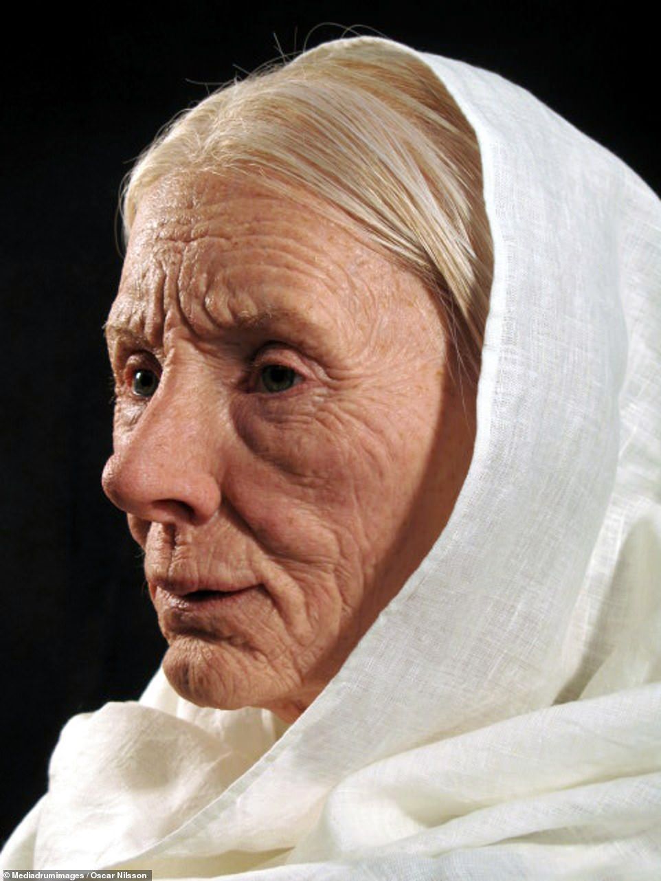 Faces of people who died thousands of years ago are revealed in these stunning pictures, after they were expertly reconstructed by a Swedish sculptor. Pictured:Estrid Sigfastsdotter, a rich and powerful Viking noblewoman