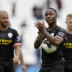 Raheem Sterling collected the match ball after scoring a hat-trick against West Ham