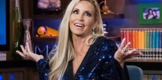 WATCH WHAT HAPPENS LIVE WITH ANDY COHEN -- Pictured: Camille Grammer -- (Photo by: Charles Sykes/Bravo/NBCU Photo Bank via Getty Images)