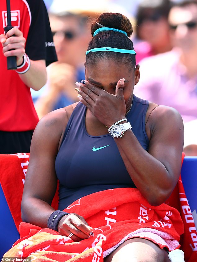 Serena Williams broke down in tears when she was forced to retire from the final of the Rogers Cup in Toronto on Sunday due to injury