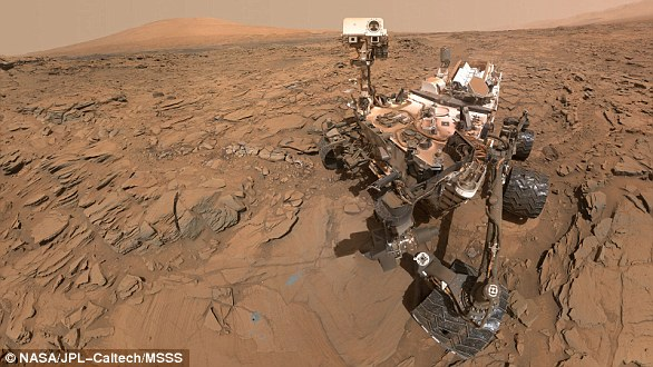 In 2012, Curiosity (pictured) was meandering over an ancient martian seabed when it examined a number of rocks that were exposed to liquid water billions of years ago