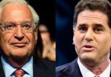 Senior Democrats in Congress are considering legislative action against David Friedman, the U.S. ambassador to Israel (left), and Ron Dermer, Israel's ambassador to Washington (right). (Getty).