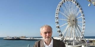 Jeremy Corbyn in Brighton in 2015