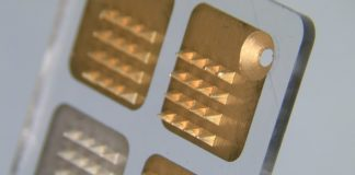 The skin patch, developed by Imperial College London, contains microneedles like teeth (pictured) which accurately detect how much medicine is in a person