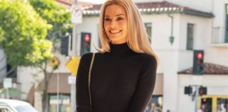 "Margot Robbie playing Sharon Tate in the new Quentin Tarantino film ""Once Upon a Time in Hollywood."""