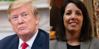 "Democratic Mayor Kim Driscoll of Salem, Massachusetts, right, said President Donald Trump needs to ""learn some history"" after he claimed those accused in the city's infamous 17th century witch trials received more due process than he has as he faces impeachment. (Getty)"