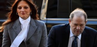 Harvey Weinstein arrives with his lawyer Donna Rotunno at the Manhattan Criminal Court, on February 21, 2020 in New York City.