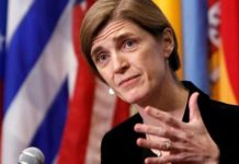 """Former U.S. Ambassador to the United Nations Samantha Power claimed she had """"no recollection"""" of ever making a request to """"unmask"""" Flynn."""