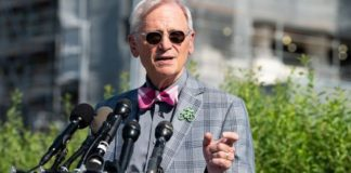 U.S. Representative Earl Blumenauer (D-OR) speaks at a press conference. (Photo by Michael Brochstein/SOPA Images/LightRocket via Getty Images)