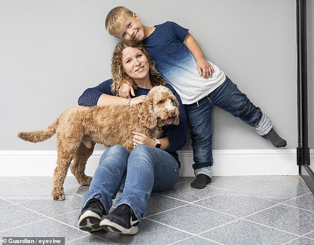 Nine-year-old Sam Gray (pictured with his mother Kristina), from Warwickshire, has been involved in the drug trial since 2018 and has already seen a marked improvement