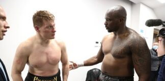 Dillian Whyte consoles Alexander Povetkin after dominating the 41-year-old in their rematch