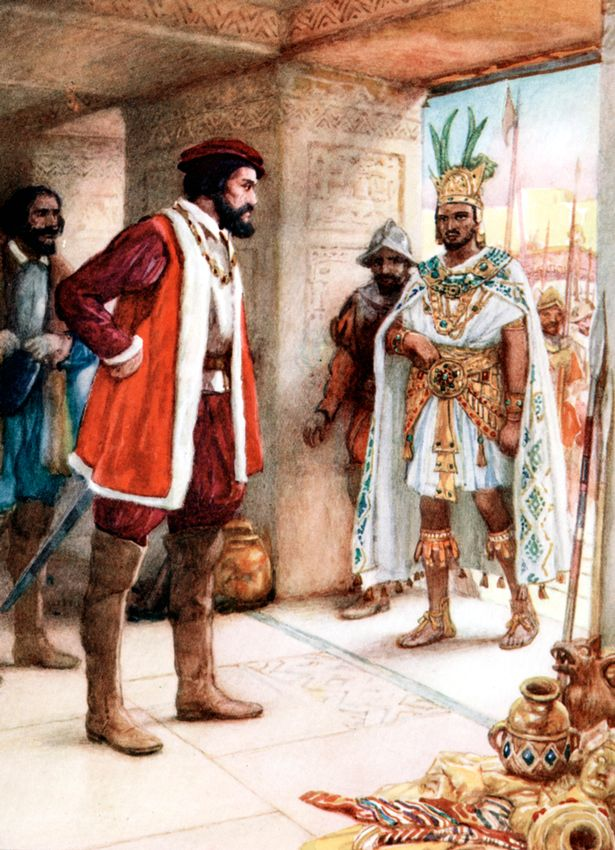 Hernan Cortes was offered gold and silver by Montezuma who wanted him to leave in peace