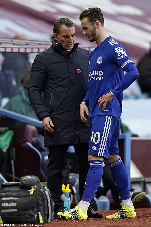 Brendan Rodgers could have given Maddison (pictured), Choudhury and Perez with fines