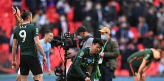 Tottenham attacker Son Heung-min let his emotions pour after their 1-0 Carabao Cup defeat
