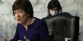 U.S. Sen. Susan Collins, R-Maine, speaks on Capitol Hill, May 12, 2021. (Getty Images)