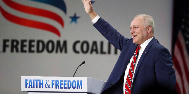 U.S. Rep. Steve Scalise speaks during the Road to Majority convention at Gaylord Palms Resort & Convention Center in Kissimmee, Fla., on Friday, June 18, 2021.