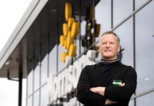 On a high: Morrisons, led by boss David Potts (pictured), rejected a 230p per share offer from Clayton Dubilier & Rice (CD&R), saying it