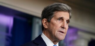 FILE - In this Jan. 27, 2021, file photo Special Presidential Envoy for Climate John Kerry speaks during a press briefing at the White House in Washington. (AP Photo/Evan Vucci, File)