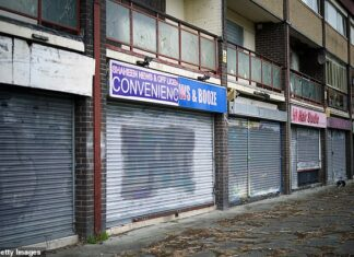 Vacant: One in seven shops in Britain now stand empty, the BRC said today