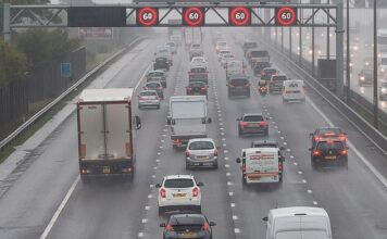 Could Britain be getting lower motorway speed limits in the rain? Almost a quarter of drivers have backed the introduction of a slower limit during inclement weather, as is already used in France