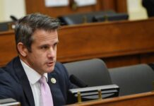 Representative Adam Kinzinger, a Republican from Illinois, speaks during a House Foreign Affairs Committee hearing in Washington, D.C., U.S., on Wednesday, Sept. 16, 2020. Photographer: Kevin Dietsch/UPI/Bloomberg via Getty Images