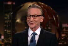 """""""Real Time"""" host Bill Maher."""