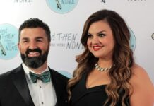 Abby Johnson with her husband, Doug, at the Quitters Ball.