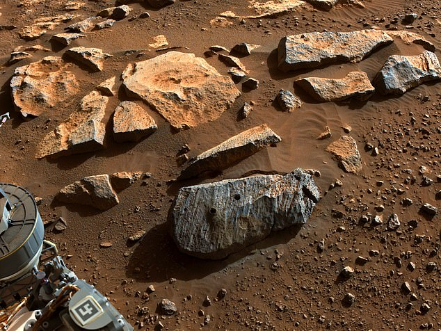 NASA announced Friday that the first rocks collected by the Perseverance rover on Mars reveal the Jezero Crater was once