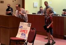 Parents at the Loudoun County School Board meeting