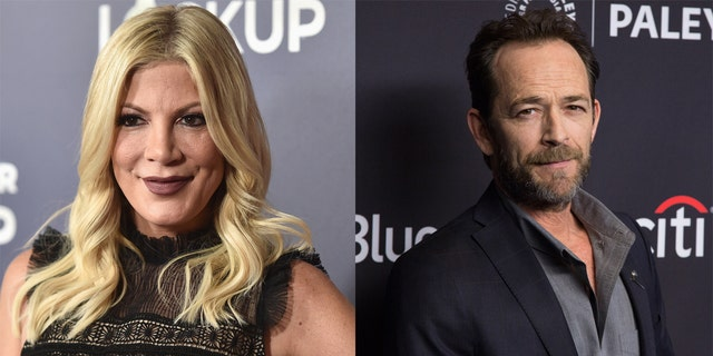 Tori Spelling paid tribute to Luke Perry on Instagram, revealing that the actor